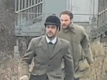 Two men wanted by British Transport Police after a New Year's Day incident involving a hunt running amok over the Banbury to Leamington railway