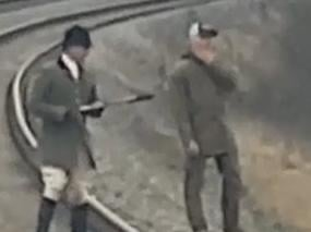 The second photo of the huntsmen released by British Transport Police today