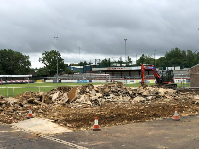 Building work is set to start on Brackley Town's new clubhouse