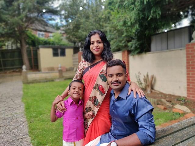 Prabhu and Shilpa Natarajan and their five-year-old son, Advaith Prabhu (Addhu).