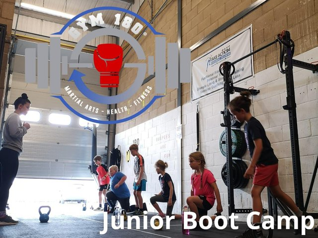 Gym 180 offers a variety of ways to keep fit, including a junior boot camp when it's open to the public