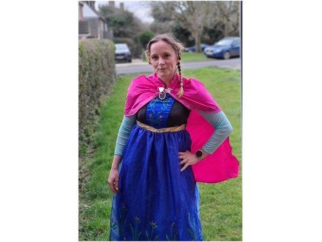 Natalie Faulkner, a mum of three and teaching assistant in Kineton, ran more than 100 miles in fancy dress during the month of February raising money and awareness for the charity Mind, a mental health charity.
