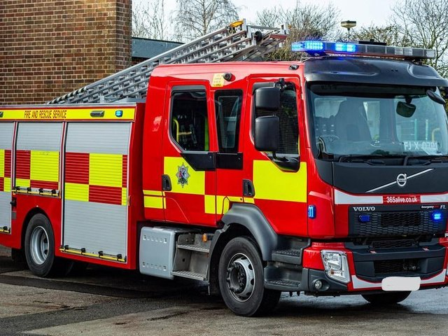 An appliance from the Oxfordshire Fire and Rescue Service (photo from Oxfordshire County Council)