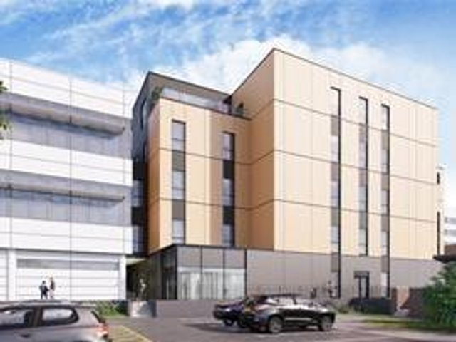 Artist's impression of the new building. (Image from Oxford University Hospitals NHS Foundation Trust)