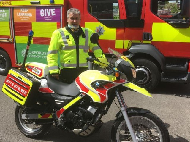 Andy Ford of Oxfordshire Fire and Rescue Service motorcycle safety campaign