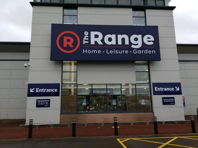 A photo from the recent store launch of The Range in Widnes, Cheshire from last month, February 2021. (photo from The Range)