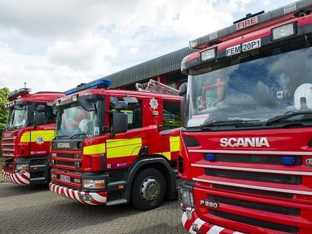 Fire appliances from Northamptonshire Fire and Rescue Service (Images from Northants Fire & Rescue Service)