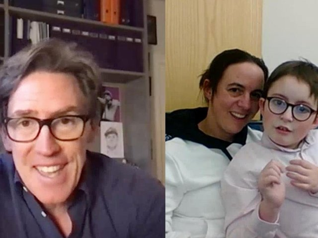 As a Mother's Day surprise for Banbury mum - Jenny Best - Helen & Douglas House hospice arranged for long-time supporter Rob Brydon, to sing a duet with her 10 year old, Nathan, who visits the hospice for respite stays.
