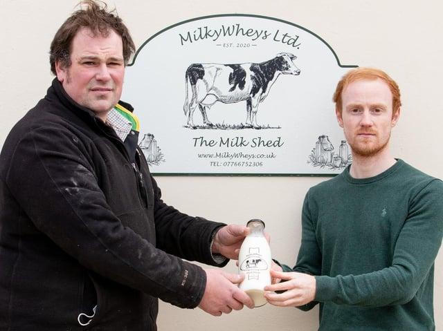 Ben Coles and colleague Simon Hodgkinson at the Milkywheys milk bar