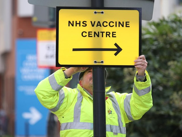 Nearly half of people in the Cherwell district have received their first dose of a Covid-19 vaccine, figures reveal.