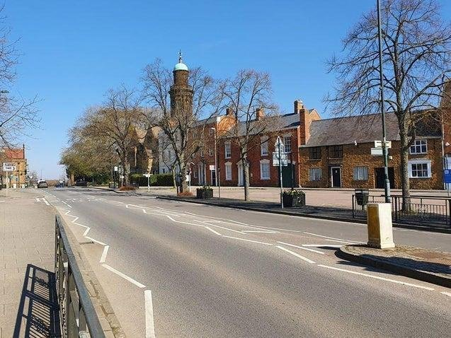 An image of the empty streets of the Banbury town centre at the end of March 2020 (photo taken by Richard Savory)