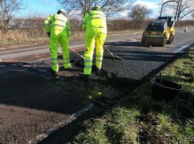 Road works photo from Oxfordshire County Council