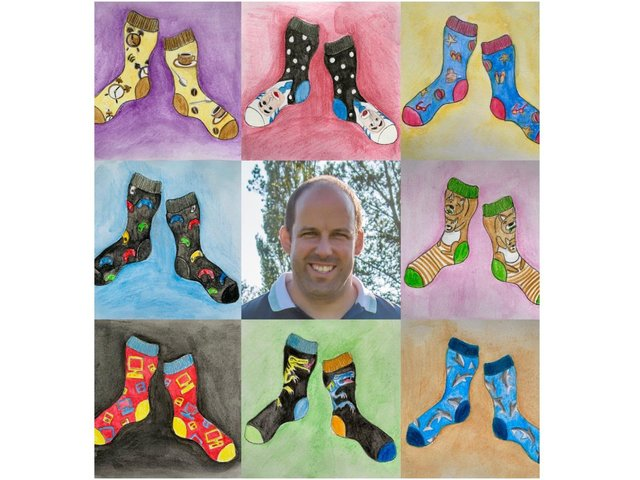 Winchester House School in Brackley is hosting a 'Snazztastic Sock Day' today (Friday March 26) in memory beloved teacher - Mr Chris Leach. (Image from Winchester House School)
