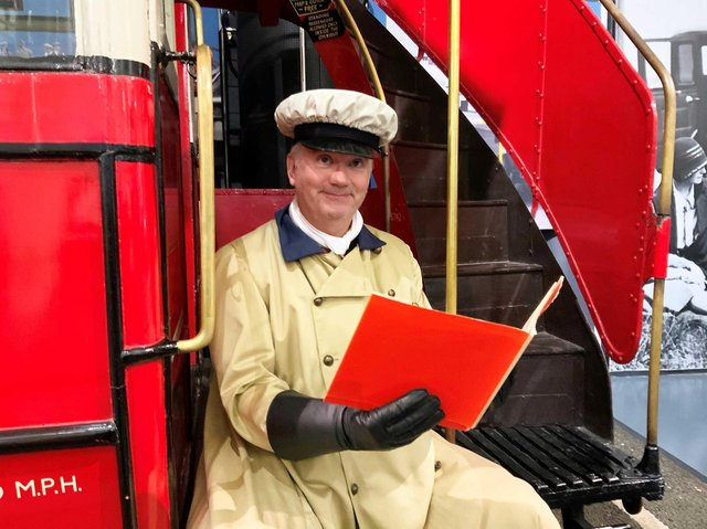 James Ellison author of Bessie the Bus and  member of the British Motor Museum's learning team. Photo supplied