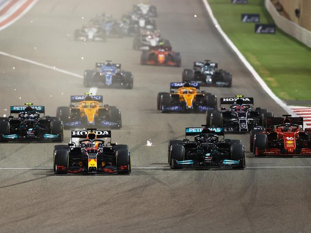 Verstappen and Hamilton fought it out from the start