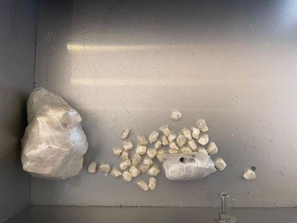 Drugs seized by police during the arrest of three people in Banbury today, Tuesday March 30 (Image from TVP Banbury Twitter post)