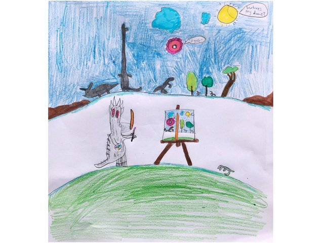 A cartoon from Joseph L Bishop Loveday school earned him the first place award coordinated by Bloxham School