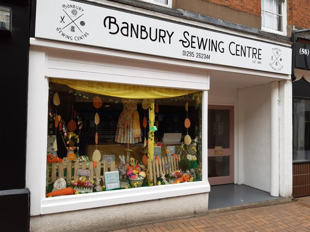 One town centre business, The Banbury Sewing Centre, has beautifully decorated its show window for the Easter season.