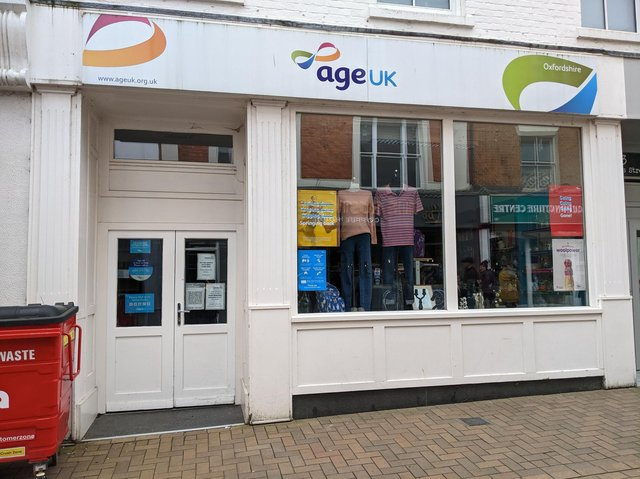 The Age UK charity shop in the Banbury town centre