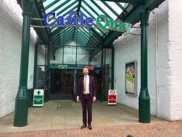 Shopping Centre Director Oliver Wren pictured at an entrance to Castle Quay