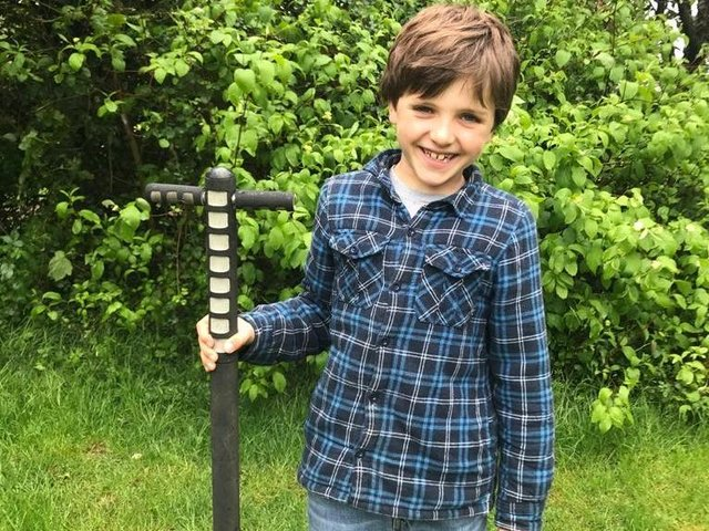 Freddie Shortridge, aged 7, and year three student at Winchester House School in Brackley