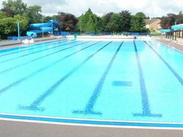 Woodgreen outdoor pool which has reopened as part of the lockdown easing