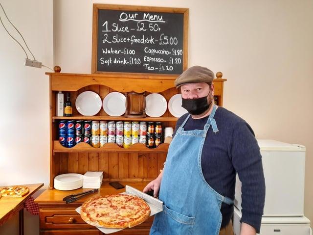 Deyan Yontov runs Love Pizza Banbury with his partner Gemma Warr in its new location in Church Lane, Banbury