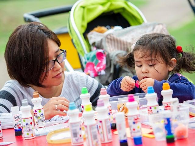 Chiaki Tachikawa and Leila Haider enjoy a Sanctuary Housing Banbury Summerfest event - do their volunteers deserve an award?