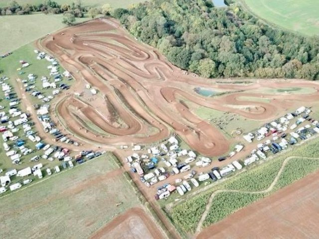 A view of the motocross track submitted in the planning application