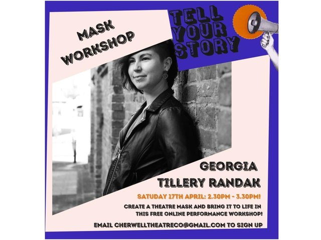 The Cherwell Theatre Company is offering some free online workshops for young people, which are linked to their Tell Your Story Festival project.