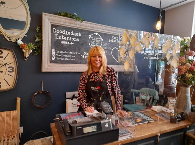 Deb Hunt, who runs the home decor business Doodledash Interiors in Parsons Street of the town centre, is hopeful for a bright future outside of lockdown