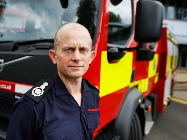 Rob MacDougall, chief fire officer for Oxfordshire County Council's Fire and Rescue Service, spoke of the service's aim to improve diversity (Image from Oxfordshire County Council)