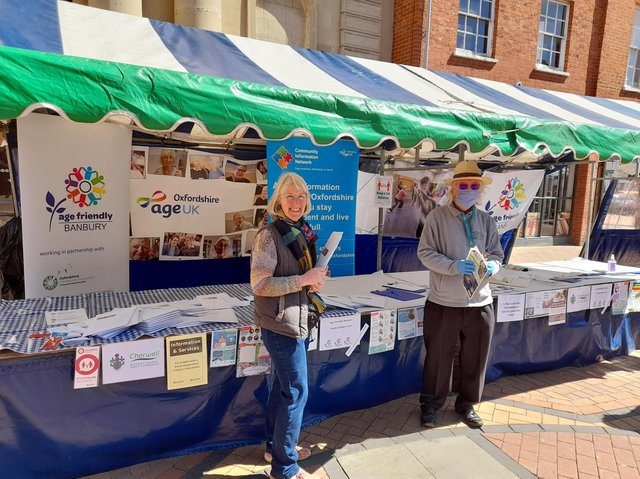 Bee Myson, the Age Friendly Banbury co-ordinator, and a representative from the Royal Voluntary Service Oxfordshire (RVS) Steve Kilsby