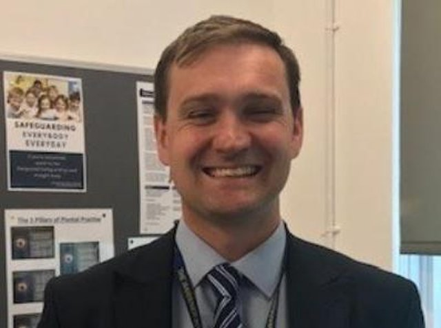 Assistant Headteacher Alex Greenhalgh at The Warriner School in Bloxham (Image from Oxford Health website)