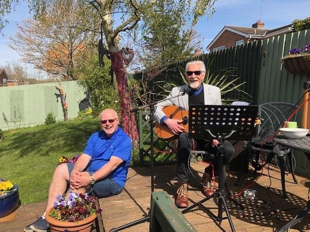 Ronnie Johnson and Roger Yarwood collaborated to put together the song 'Today Life Goes On,' which Roger sang and performed for a video filmed by Ronnie Johnson (Image from Ronnie Johnson)