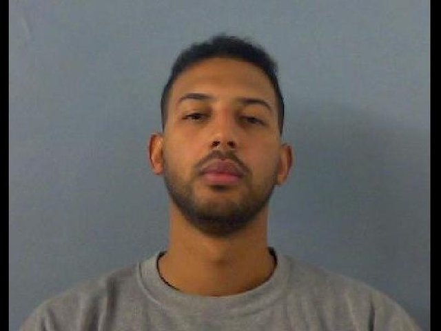 Lewis Abubakar, aged 29, is wanted by police after he absconded from lawful custody in Banbury on April 15. (Image from Thames Valley Police)