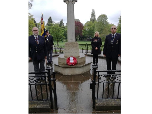 Members of the Banbury Branch of the Royal British Legion met at the War Memorial in Peoples Park, Banbury to commemorate 100 years of the Royal British Legion.