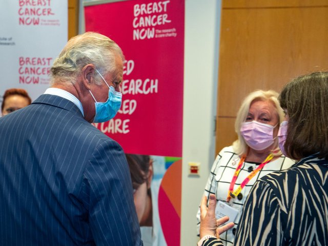 Christine Carol Ann Sturgess from Chacombe near Banbury, met His Royal Highness Prince Charles at an event for Breast Cancer Now supporters, in recognition of their amazing fundraising efforts.