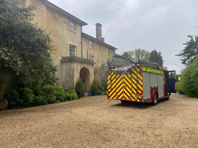 Firefighters responded to a chimney fire in a village near Chipping Norton late last week. (Image from Oxfordshire Fire & Service Facebook page)
