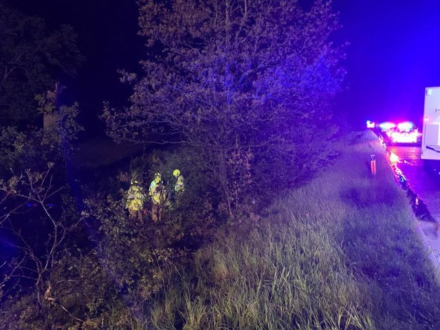 Multiple fire crews responded to a road traffic collision on the M40 near Bicester last night, Sunday May 23.