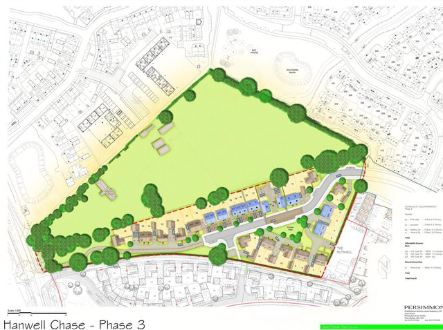 Cherwell District Council's planning committee has approved plans for a development called Hanwell Chase phase 3 - bringing 36 new homes to Banbury (Image from the CDC planning filing)