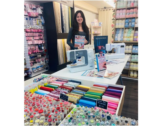Amy-Leigh Brennan-Rogers, the owner of The Banbury Sewing, has taken over the Witney Sewing and Knitting Centre (pictured at her Banbury town centre shop)