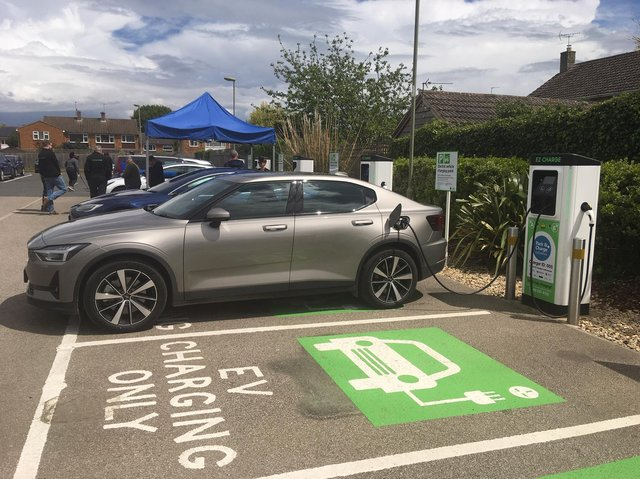 Park and Charge hub at Cattle Market car park in Bicester (Image from Oxfordshire County Council)