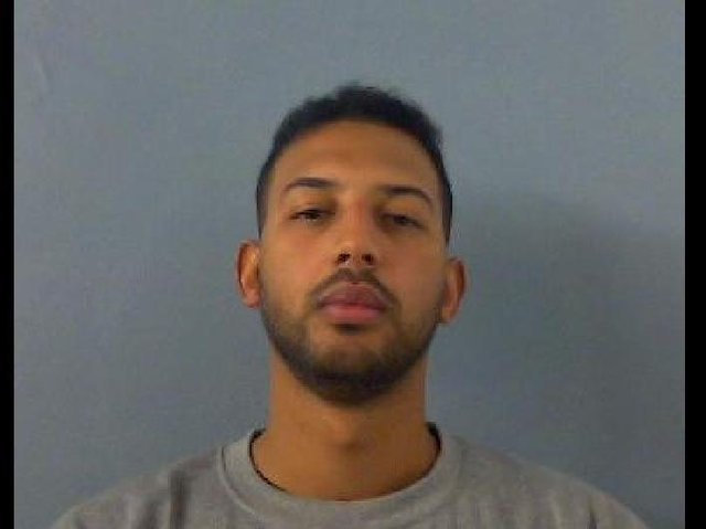 Lewis Abubakar, aged 29, of no fixed abode, with drug supply offences, escaping lawful custody, possession of criminal property, criminal damage and breach of bail in Banbury.(Image from TVP)