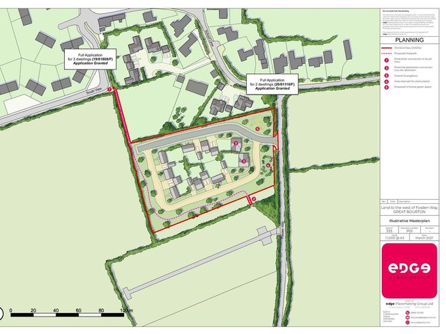 Plans for up to nine new homes have been submitted to Cherwell District Council in the village of Great Bourton near Banbury (Image from the planning application submitted to CDC online)