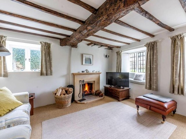 The grade II listed Cotswold stone cottage for sale called the Bylands in the village of Swerford near Chipping Norton (Image from Rightmove)