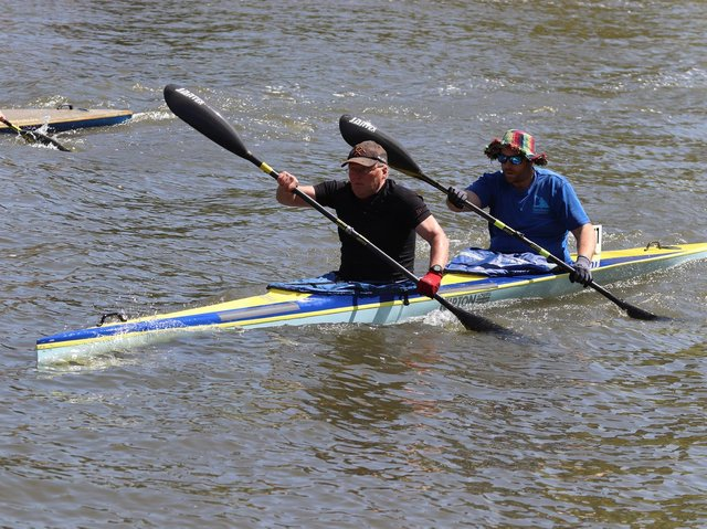 Chris Hill and Lee Dean winning Div 6 K2 at Reading