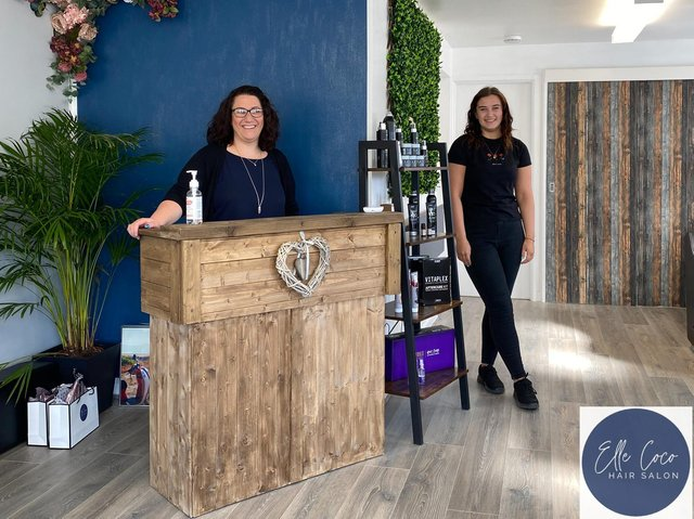 Pictured: Laura Durn, owner of the eco-salon called Elle Coco Hair Salon, and staff member andLauren Paynton (photo by Jannine Paxton-Timms of JPT Photographic)