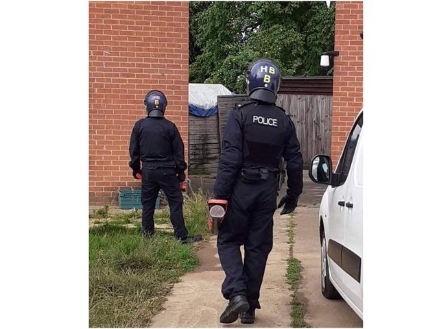 Thames Valley Police served a Misuse of Drugs Act warrant at an address in Easington Road, Banbury (yesterday Friday June 11) and arrested a 19-year-old man. (Image from the TVP Cherwell Facebook page)