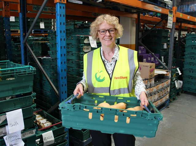Jo Dyson, who is from Banbury and serves as the head of food at the charity FareShare, was named an Order of the British Empire (OBE) 'for services to charitable food provision during Covid-19'.